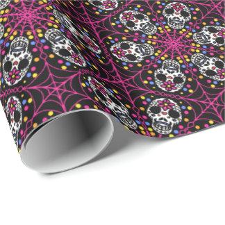 Zuckerschädel-Kaleidoskop Geschenkpapier
