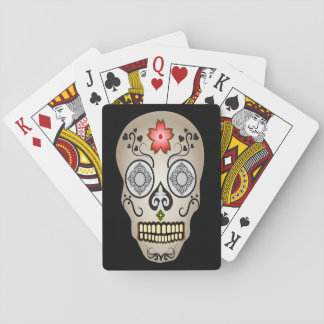 Zuckerschädel-Tag der toten Halloween-Karten Spielkarten