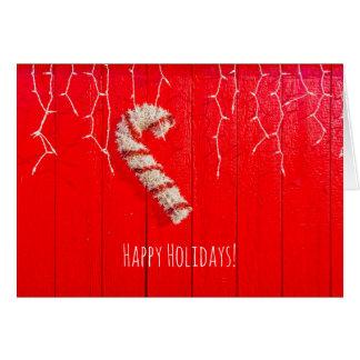 Zuckerstange auf dem Rot - Weihnachten - saisonal Karte