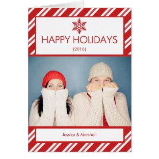 Zuckerstange-Foto gefaltete Weihnachtskarte Karte