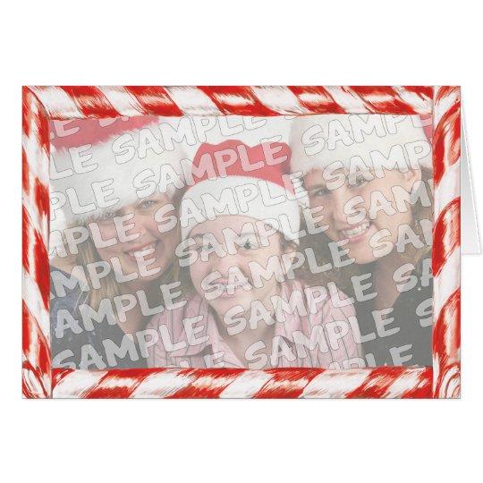 Zuckerstange-Foto-Rahmen-Weihnachtsporträt Karte