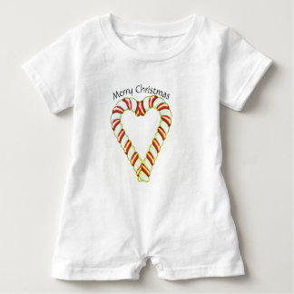Zuckerstange-Herz Baby Strampler