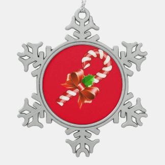 Zuckerstange-Schneeflocke-Verzierung Schneeflocken Zinn-Ornament