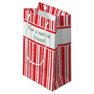 Zuckerstange-Streifen Kleine Geschenktüte