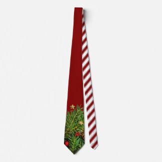 Zuckerstange Stripes Weihnachtskiefern-Nadeln Krawatte