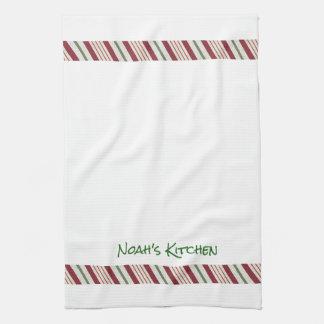 Zuckerstange-Weihnachtsgrenztee-Geschirrtuch Küchenhandtuch
