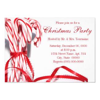 Zuckerstange-WeihnachtsParty Einladungen