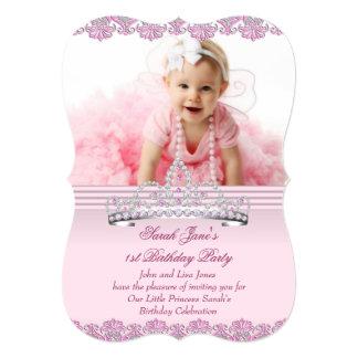 Zuerst 1. Geburtstags-Party-Mädchen-Prinzessin