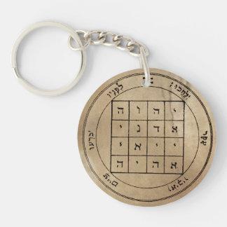 Zuerst u. zweite Pentagramme von Saturn Keychain Schlüsselanhänger