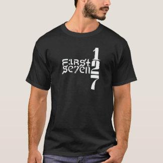 Zuerst zu sieben Weiß-Logo 2 T-Shirt