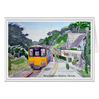 Zug an Gerste Ferrers Station, Devon Karte