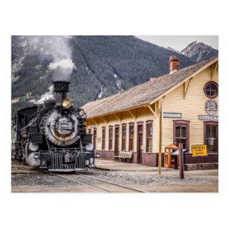 Zug Durangos Silverton am Silverton Depot Postkarte
