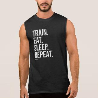 Zug essen Schlaf-Wiederholung -   Ärmelloses Shirt