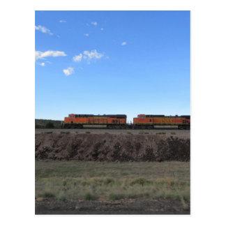 Zug-Motoren Postkarte