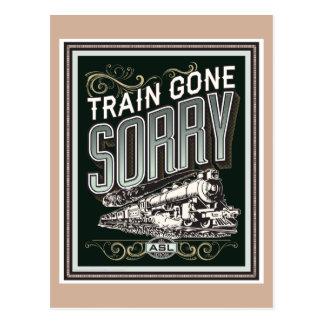 Zug traurig gegangen. eine Postkarte