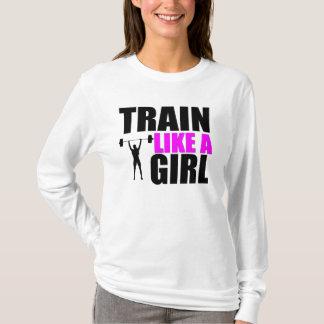 Zug wie ein Mädchen - Damen-FitnessHoodie T-Shirt