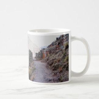 Zugang zu Pisac Zitadelle, Peru Kaffeetasse