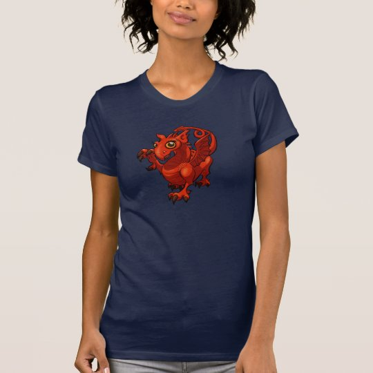 Zügelloses kleines Waliser-Baby-roter T-Shirt