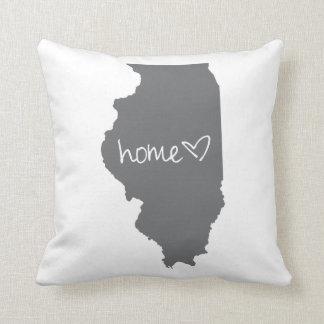Zuhause <3 Illinois Kissen