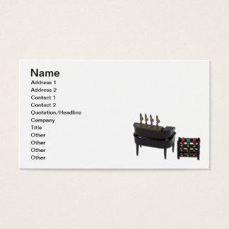 Zuhause-Bar mit Wein-Gestell Visitenkarte