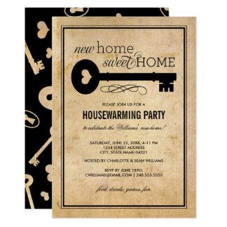 Zuhause-Bonbon-Zuhause des Housewarming-Party-| 12,7 X 17,8 Cm Einladungskarte