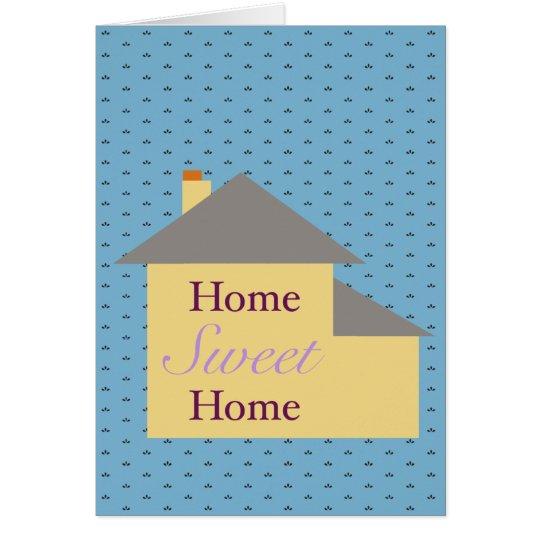 Zuhause-Bonbon-Zuhause Grußkarte