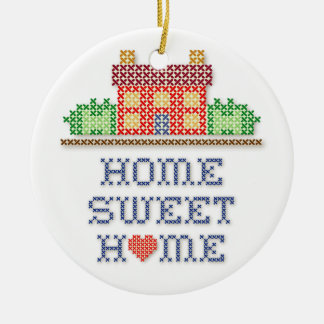 Zuhause-Bonbon-Zuhause Keramik Ornament