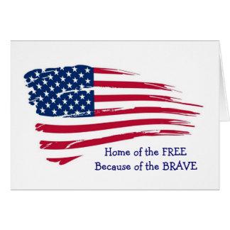 Zuhause der freien gewellten Flagge Grußkarte