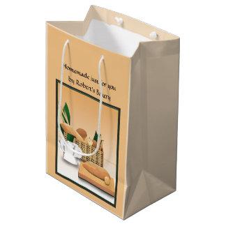 Zuhause gebackene Brot-Bäckerei-Geschenk-Tasche Medium Geschenktüte