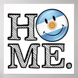 Zuhause ist Flaggen-Haus-Wärmer Argentiniens Poster