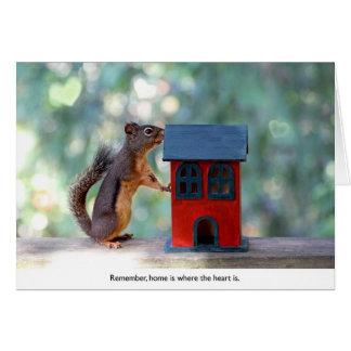 Zuhause ist, wo das Herz Eichhörnchen ist Grußkarte