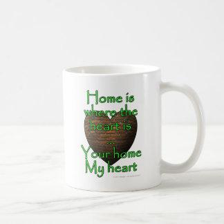 Zuhause ist, wo das Herz… Ihr Zuhause mein Herz Kaffeetasse