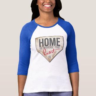 Zuhause ist, wo das Herz ist - Baseball T T-Shirt