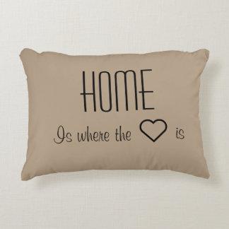 Zuhause ist, wo das Herz Kissen ist Deko Kissen