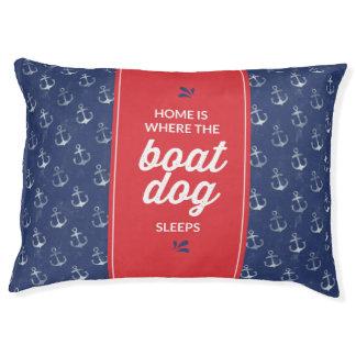 Zuhause ist, wo der Bootshund schläft Haustierbett
