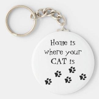 Zuhause ist, wo Ihr CAT Schlüsselring ist Schlüsselanhänger