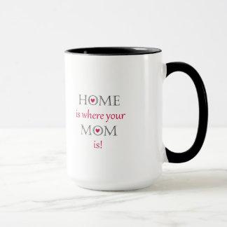 Zuhause ist, wo Ihre Mamma Tasse ist