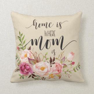 """""""Zuhause ist, wo Mamma"""" Geschenk der Mutter Kissen"""