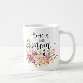 """""""Zuhause ist, wo Mamma"""" Tages-/Geburtstagsgeschenk Tasse"""