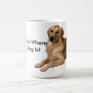 Zuhause ist, wo mein Hund ist Tee Tassen