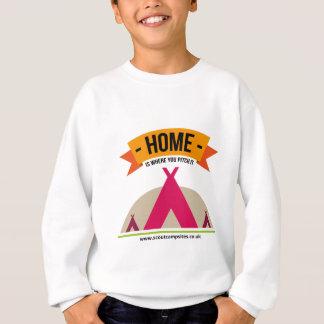 Zuhause ist, wohin Sie es… werfen Sweatshirt