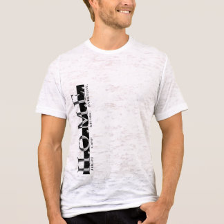 ZUHAUSE Leinwandangepasster Burnout T T-Shirt