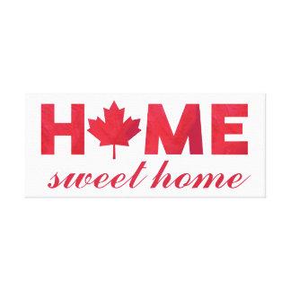 Zuhause-süße Zuhause-Kanadier-Flagge Leinwanddruck