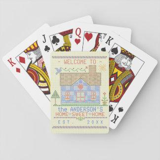 Zuhause-süßer Spielkarten