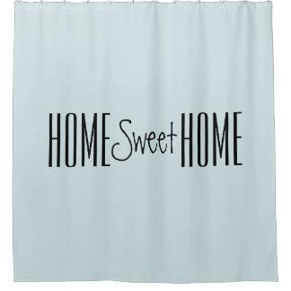 Zuhause-süßer Zuhause-Typografie-Duschvorhang Duschvorhang