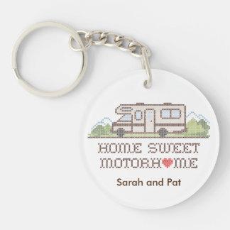 Zuhause-süßes BewegungsZuhause, Spaß-Straßen-Reise Schlüsselanhänger