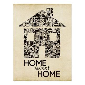 Zuhause-süßes Zuhause-neue Adressen-Anmerkungs-Kar