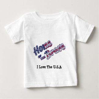 Zuhause vom tapferen in den amerikanischen Farben Baby T-shirt