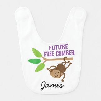 Zukunft-freier Bergsteiger-personalisierter Babylätzchen