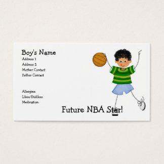 Zukunft NBA Stern! Mama-Telefonkarten Visitenkarte
